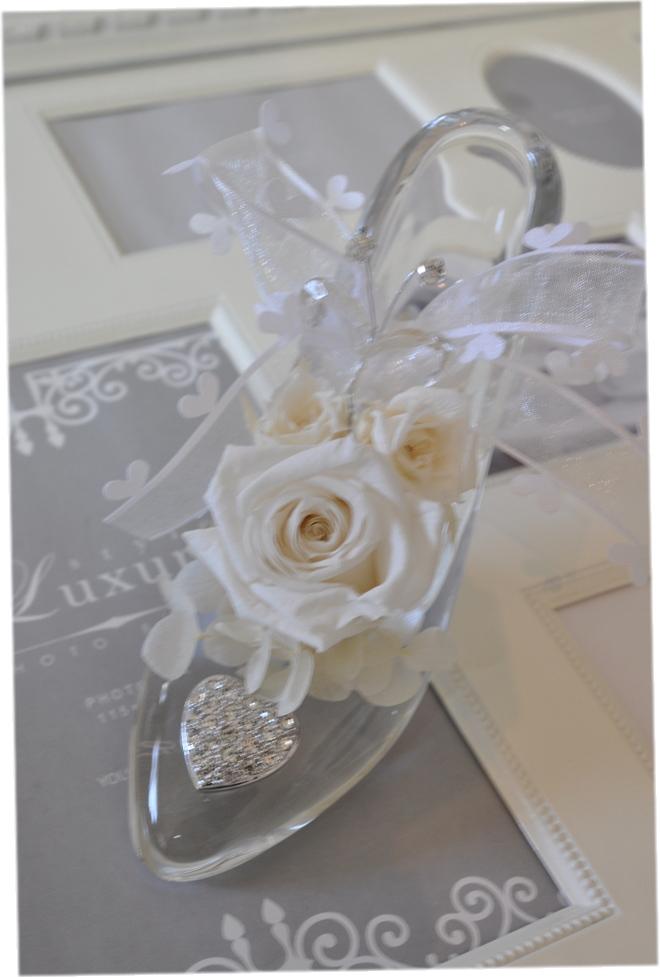 ディズニーランドのシンデレラ城☆ガラスの靴☆もちろんガラス製です☆リングピロー☆♪♪♪ホワイトデー プロポーズ
