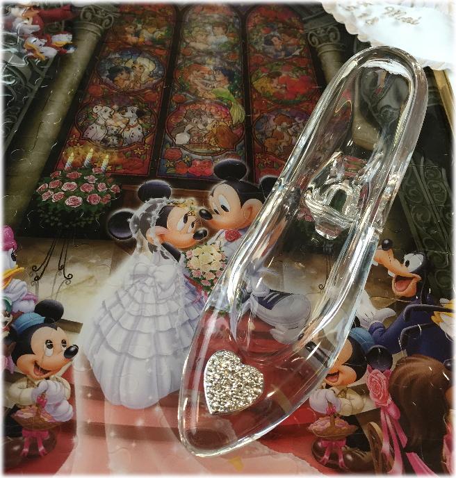 送料無料!高品質☆ディズニーランドのシンデレラ城☆ガラスの靴☆もちろんガラス製です☆:ホワイトデー プロポーズ