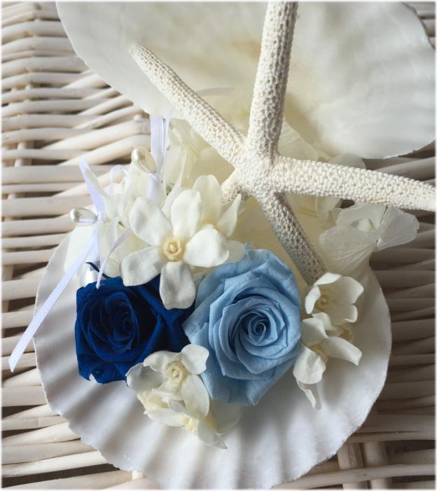 *Summer Wedding*海のイメージ*キラキラ貝殻のSweetリングピロー☆リゾート☆海外挙式 ハワイ