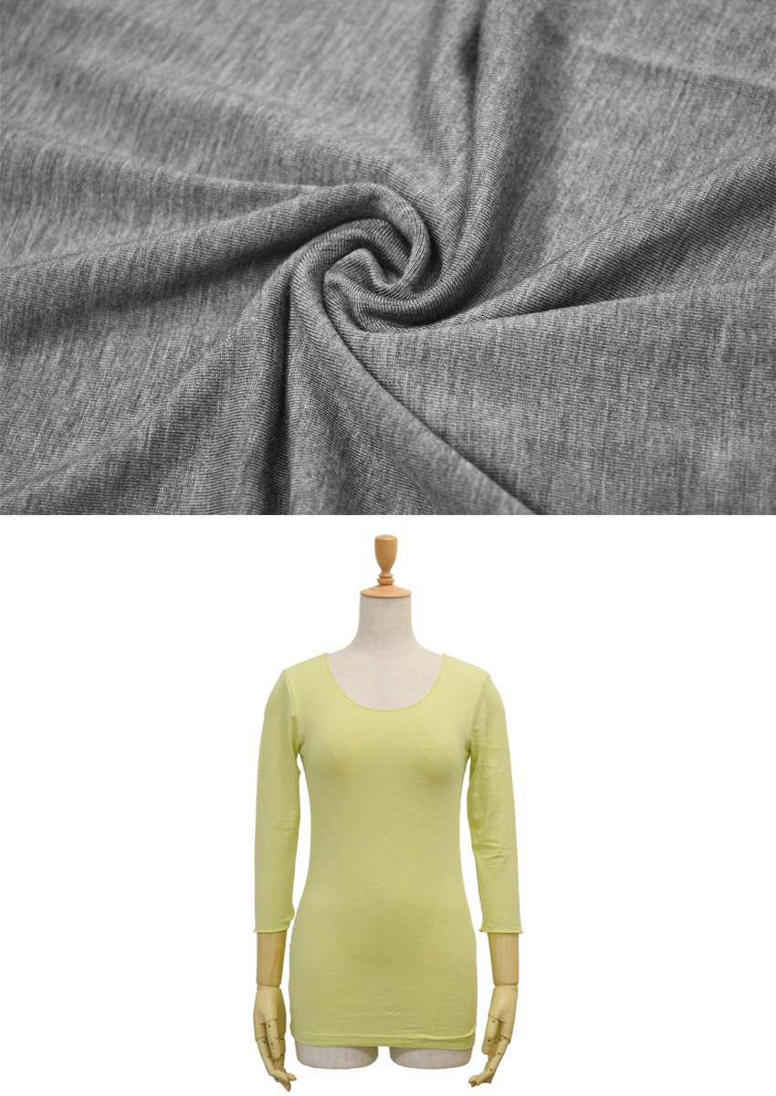 Silk touch plain U neck three-quarter Sleeve T shirts F sizes colors 8 colors! Dressed in one piece, and the inner.