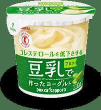 専門店 豆乳を乳酸菌ではっ酵した植物性ヨーグルトです アロエ葉肉入りの食べやすいおいしさです 血清コレステロールが低下する効果が実証 特定保健用食品 ソヤファーム 安全 110g アロエ 豆乳で作ったヨーグルト 12個入