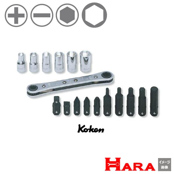 コーケン Koken Ko-ken  R810D セット | ギアレンチ ギアレンチセット ラチェットレンチ セット ソケットレンチ モンキーレンチ 早回し ネジ 回し スパナレンチ ギアレンチ ラチェット メガネレンチ バイク工具 車用工具 レンチ