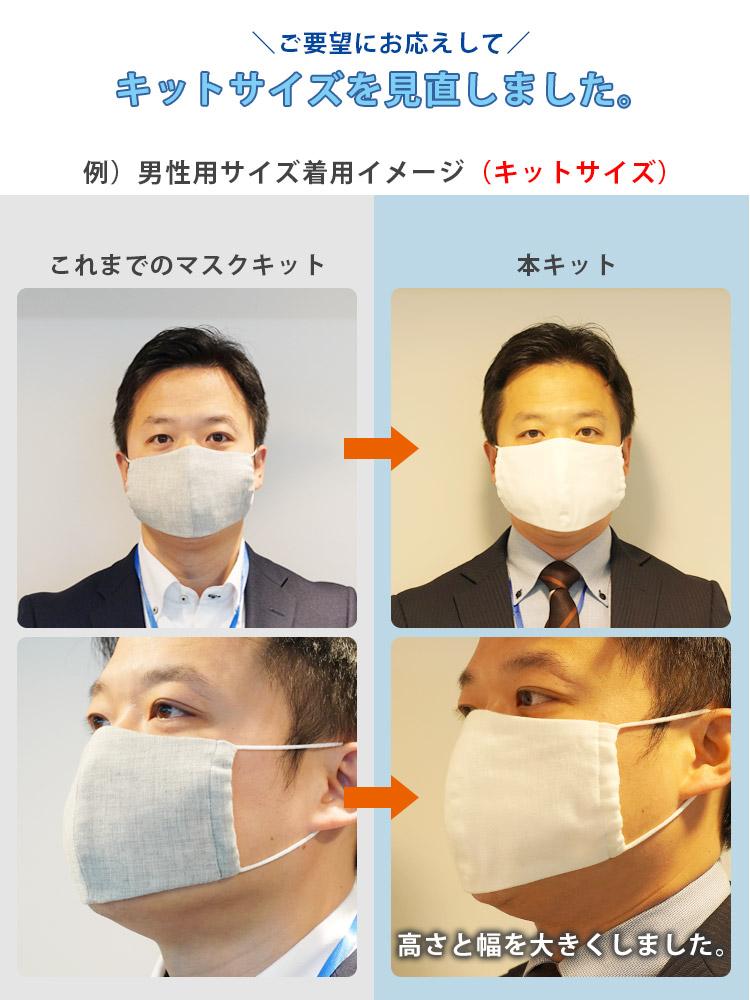 男性 マスク 型紙