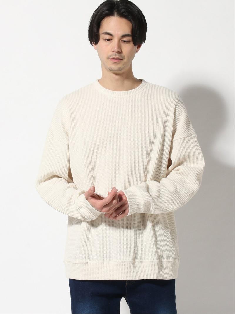 HARE メンズ カットソー お求めやすく価格改定 ハレ 値下げ SALE 50%OFF ワッフルプルオーバー Tシャツ ベージュ 送料無料 ホワイト RBA_E ブラック Rakuten Fashion