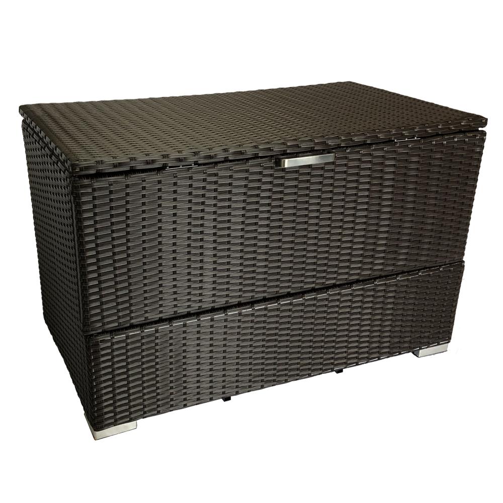 手編み高級人工ラタン ウィッカー 組立不要 ゴミ保管庫 収納庫 幅100cm 送料無料