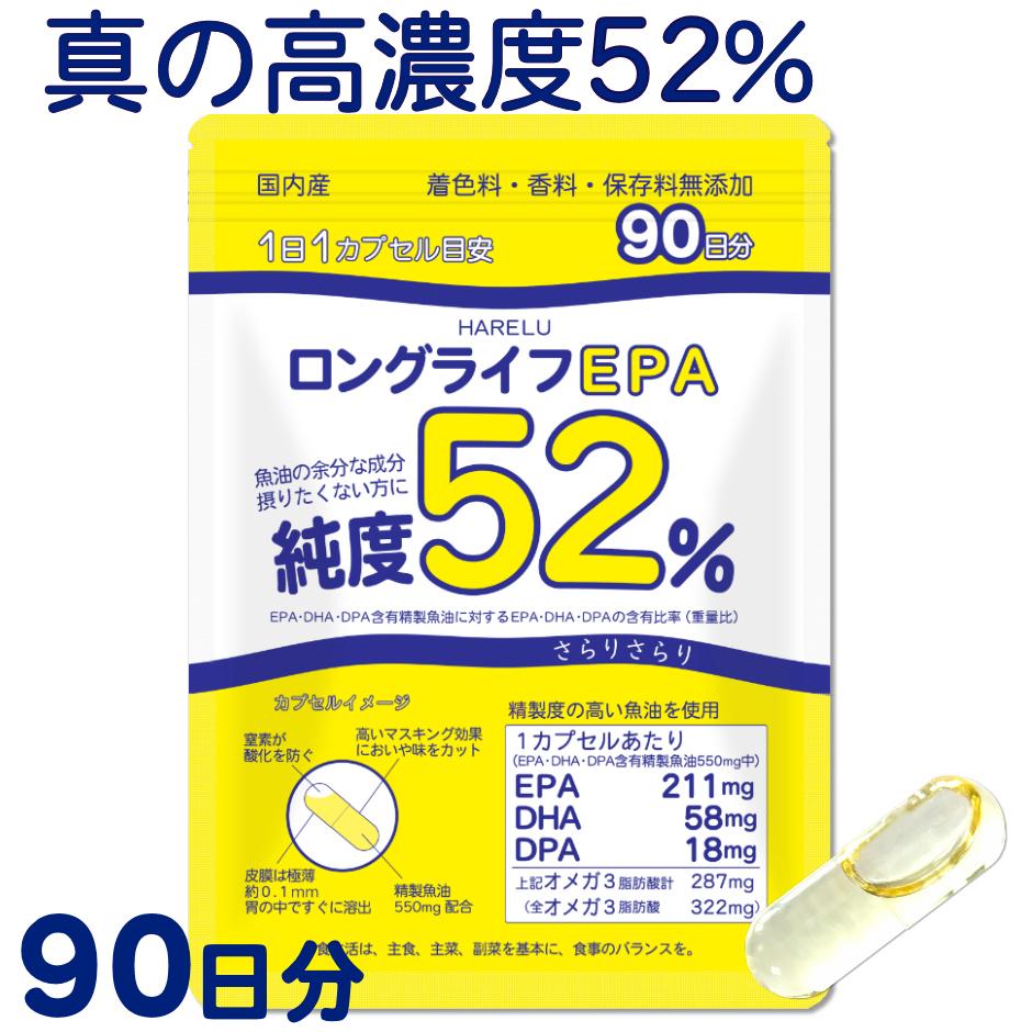 サラサラ成分 青魚 必須脂肪酸 健康食品 栄養補助食品 メール便 日本産 秀逸 epa サプリ dha サプリメント EPA 2020 DPA 国産 計52% 59% ロングライフEPA 高純度 epadha DHA オメガ3脂肪酸 エイコサペンタエン酸 ドコサヘキサエン酸 90日分