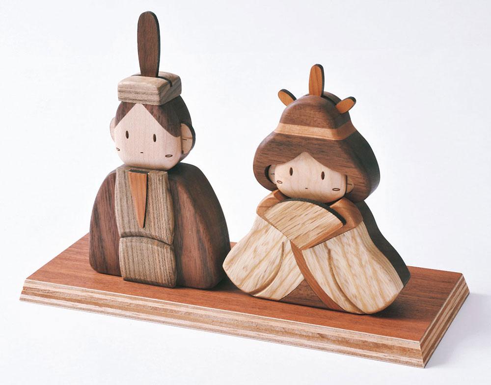 旭川 木製品 木工 木製小物 天然木 おもちゃ 玩具 ぬくもり 雛人形 かわいい コンパクト ササキ工芸 木製ひな人形Aセット オブジェ・雑貨 季節商品