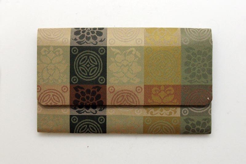 袋 珠数袋二つ折(正絹磁気留) 名物裂 遠州:地味 紙箱入 【オブジェ・雑貨 雑貨】