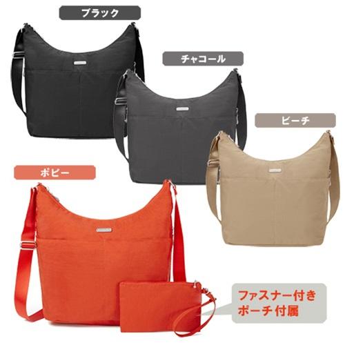 軽くてシンプルなショルダーバッグ 外側 内側ともに豊富なポケットを配置 内側にはカード収納5枚 ナスカン付き ホーボー クロスボディ ショルダーバッグを固定する事も可能 バッガリーニ 直営店 おトク