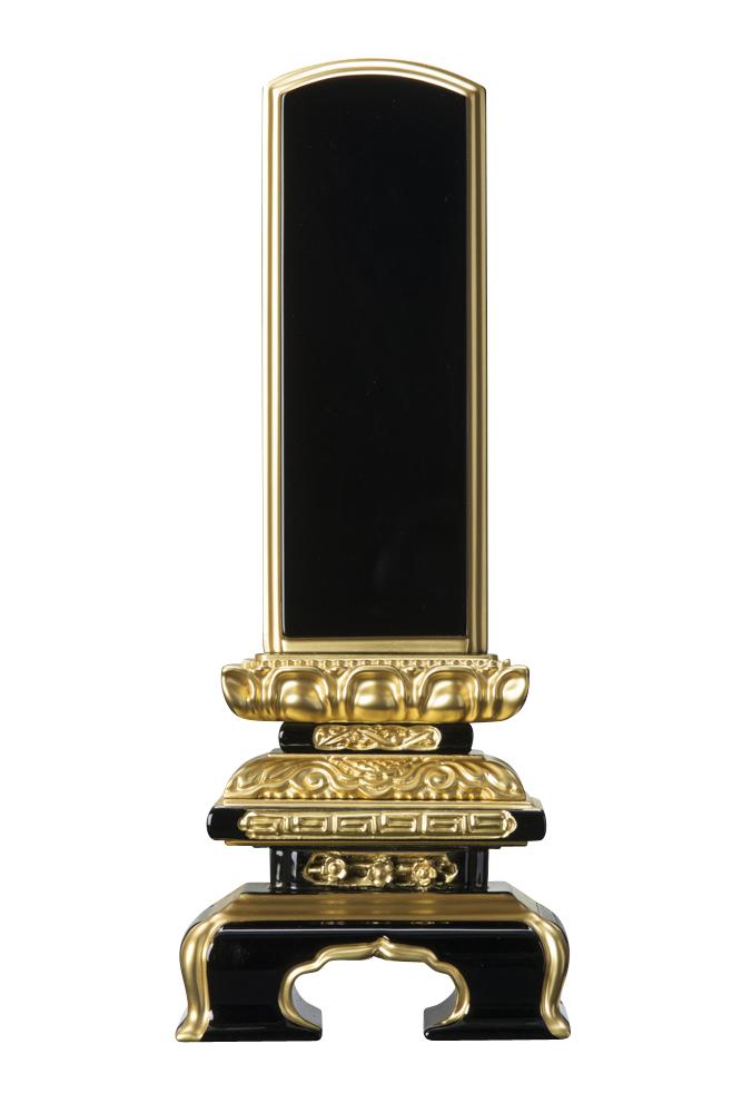日本産 モダン 小さい 未使用品 コンパクト 仏具 仏壇用品 彫刻 純面粉 戒名 千倉座 48-5 塗り位牌 4.0寸