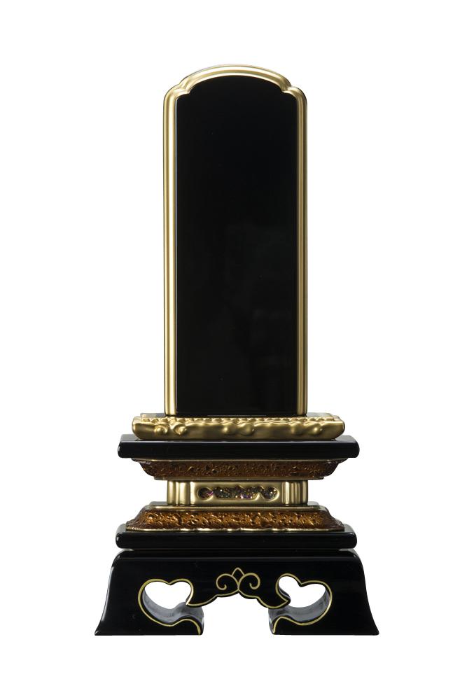 メイルオーダー モダン 小さい コンパクト 仏具 仏壇用品 彫刻 純面粉 塗り位牌 激安挑戦中 戒名 勝美楼門 4.0寸 47-2