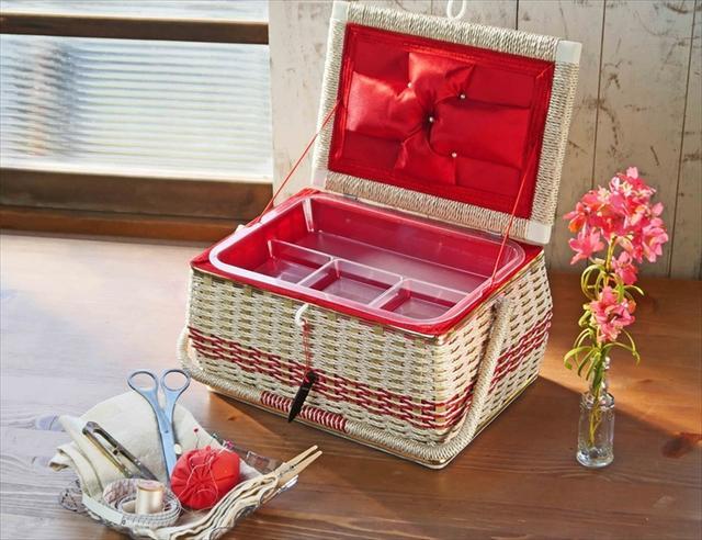 手編みのお裁縫箱