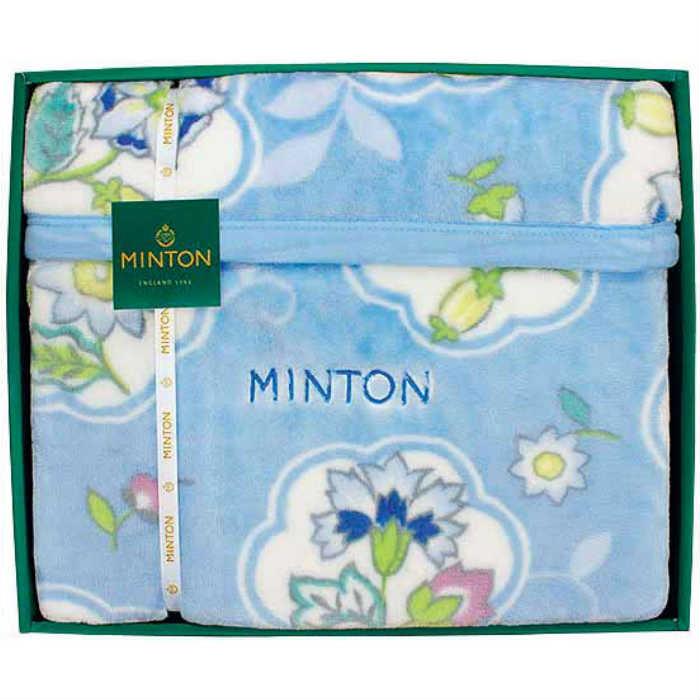 訪れたビクトリア女王に賞賛され王室御用達となりました ギフト ミントン マイヤー毛布 大放出セール 返礼品 25%OFF 内祝 SE1-80-3 ブルー