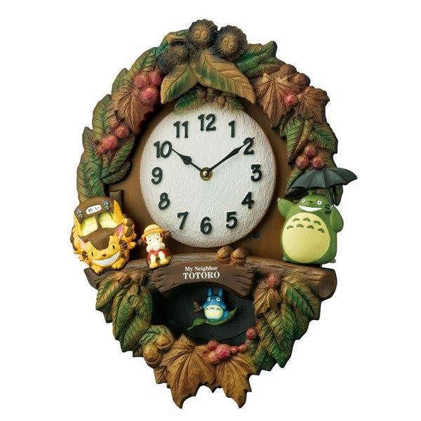 となりのトトロ 掛時計 トトロM429 SE0-224-7 送料無料 飾り振付付 景品 記念品 プレゼント