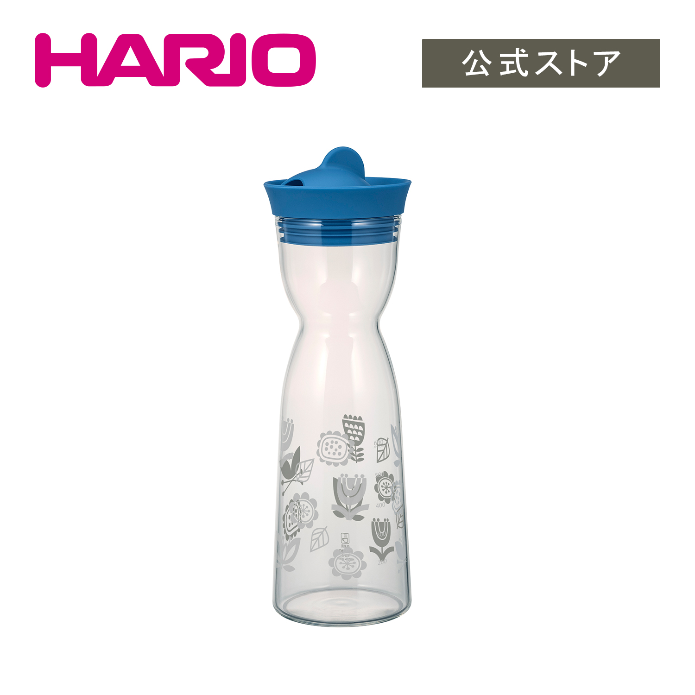 持ちやすいくびれた形状のウォータージャグ HARIO ウォータージャグ ブルー 1000ml サーモカラー 人気の定番 商品追加値下げ在庫復活