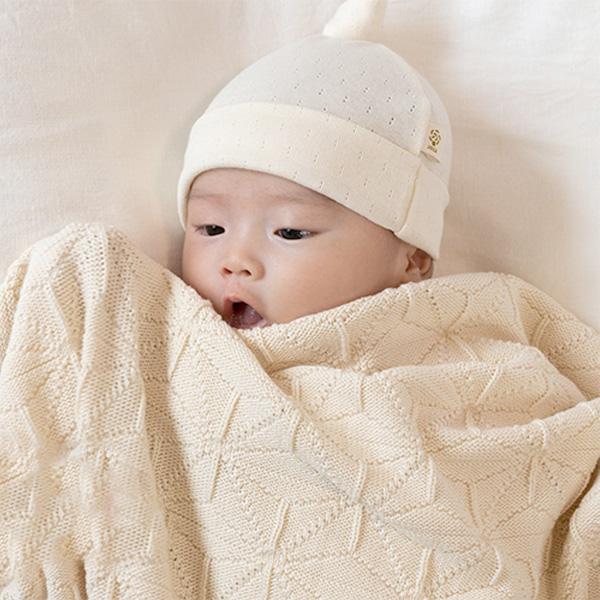ca2299745104f cofucu ( coughing ) organic cotton baby eyelet pattern mill closing Cap  natural (organic ...