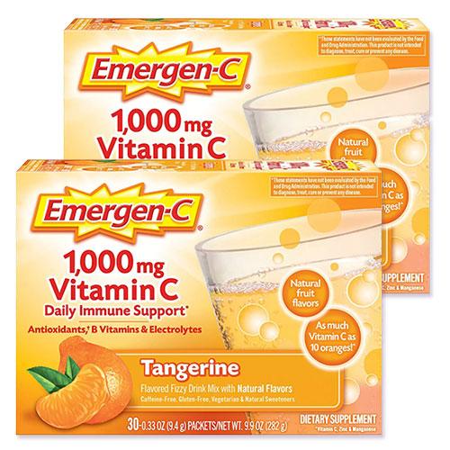 サッとビタミン補給 2個セット [並行輸入品] エマージェンC 通信販売 タンジェリン 各30袋
