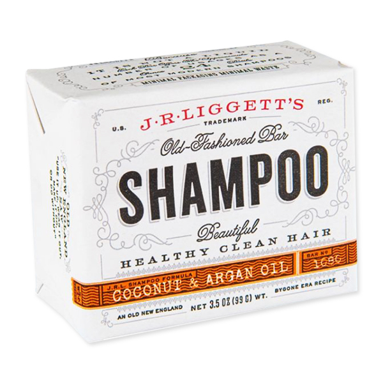 ナチュラル成分100% プラスチックフリーで髪にも環境にもやさしいシャンプー J.R. LIGGETT`S バーシャンプー 3.5oz アルガンオイル 99g 現品 人気海外一番 ココナッツ J.R.リジェッツ