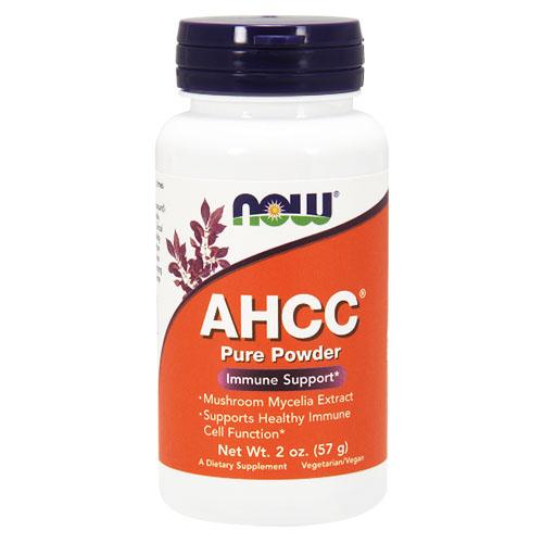 キノコ菌糸抽出物AHCC 100%ピュアパウダー 57g NOW Foods(ナウフーズ)