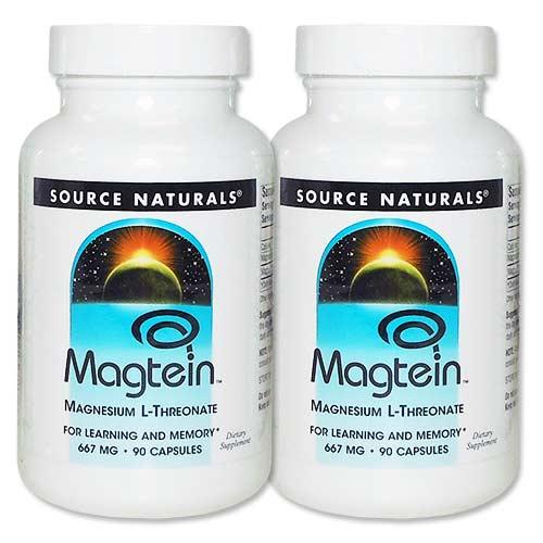 [2個セット]マグテイン L-トレオン酸マグネシウム90粒【全品ポイントUP★12月18日20:00-12月26日9:59迄】