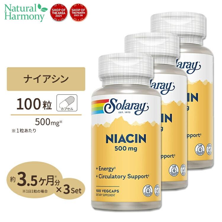 爆買いセール ナイアシン ビタミンB3 500mg 100粒 激安セール 3個セット