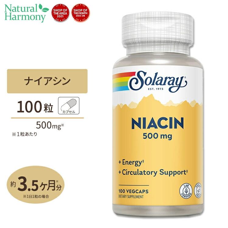 定番から日本未入荷 ナイアシン ビタミンB3 500mg 100粒ソラレー そられー メーカー在庫限り品