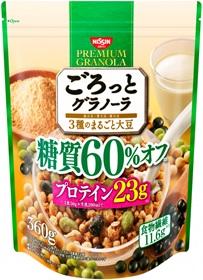 ごろっとグラノーラ 3種のまるごと大豆 超歓迎された 糖質60%オフ 6個入り 品質検査済 360g