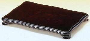 【花台】木製 なでしこ 黒丹調 飾り台 日本製 (12号:約幅36X奥行24X高さ3.7cm)