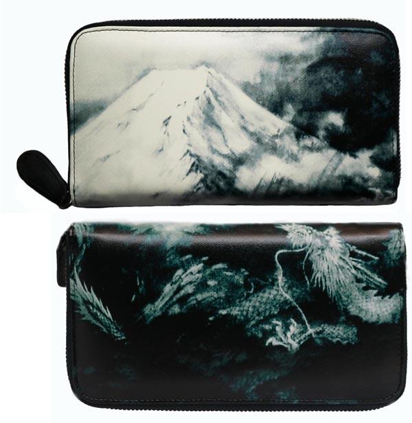 【風水】「富士山に龍」金財運如意 長財布 収納力抜群