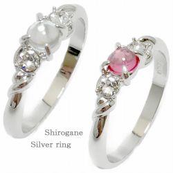 指輪 ショッピング リング カボションクリスタル 全商品オープニング価格 ピンク 送料無料 ファッションリング カボションカット SV925 日本製 クリックポスト発送