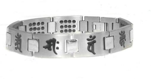 純チタン ゲルマ96個 梵字ブレスレット 守護 八尊仏 梵字ブレス
