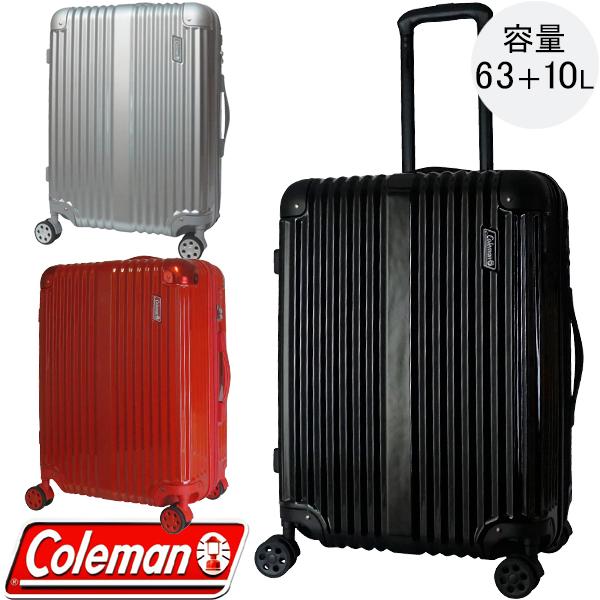 6f7612f3d1 スーツケース キャリーケース コールマン Coleman Mサイズ 63L~73L 3泊 4泊 拡張
