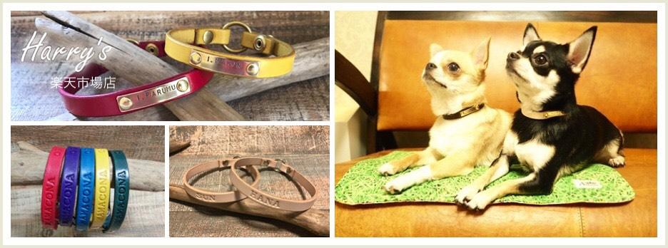 Harry's 楽天市場店:革製のネームチョーカー、迷子札をハンドメイドにて製作販売しております。