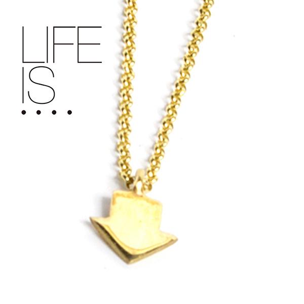LIFE IS.... ネックレス アローヘッド ARROW HEAD NECKLACE ライフイズ 10K ゴールド
