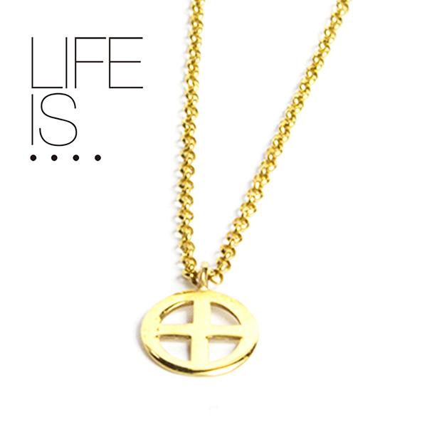 LIFE IS.... ネックレス メディスンホイール MEDICINE WHEEL NECKLACE ライフイズ 10K ゴールド