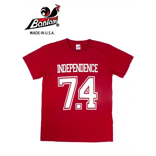 アメリカ製 独立記念日 USA Bantam バンタム INDEPENDENCE Tシャツ インディペンデンス [正規販売店] 爆買い送料無料 レッド
