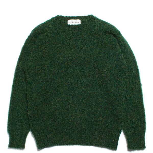 JAMES CHARLOTTE ジェームスシャルロット シェットランドウール セーター シャギードッグ グリーン