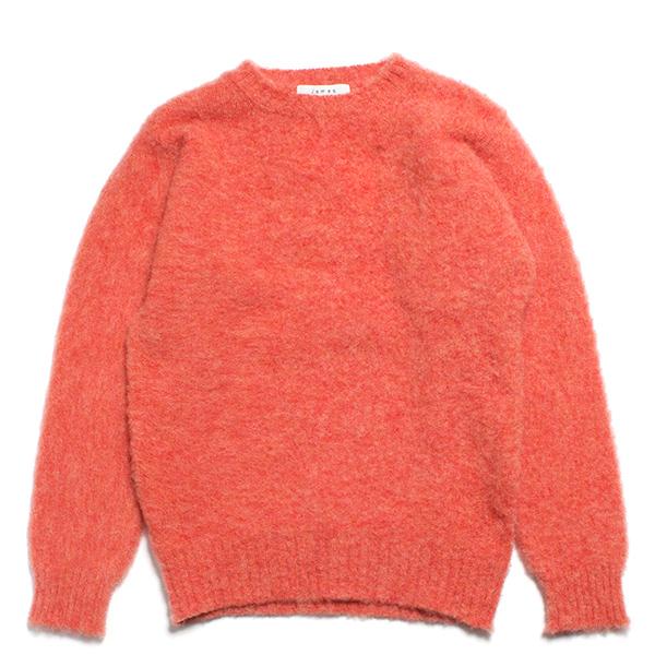 JAMES CHARLOTTE ジェームスシャルロット シェットランドウール セーター シャギードッグ ピンク