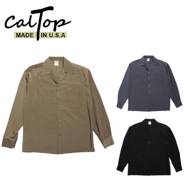 CalTop オープンカラーシャツ キャルトップ 長袖 #3003 アメリカ製