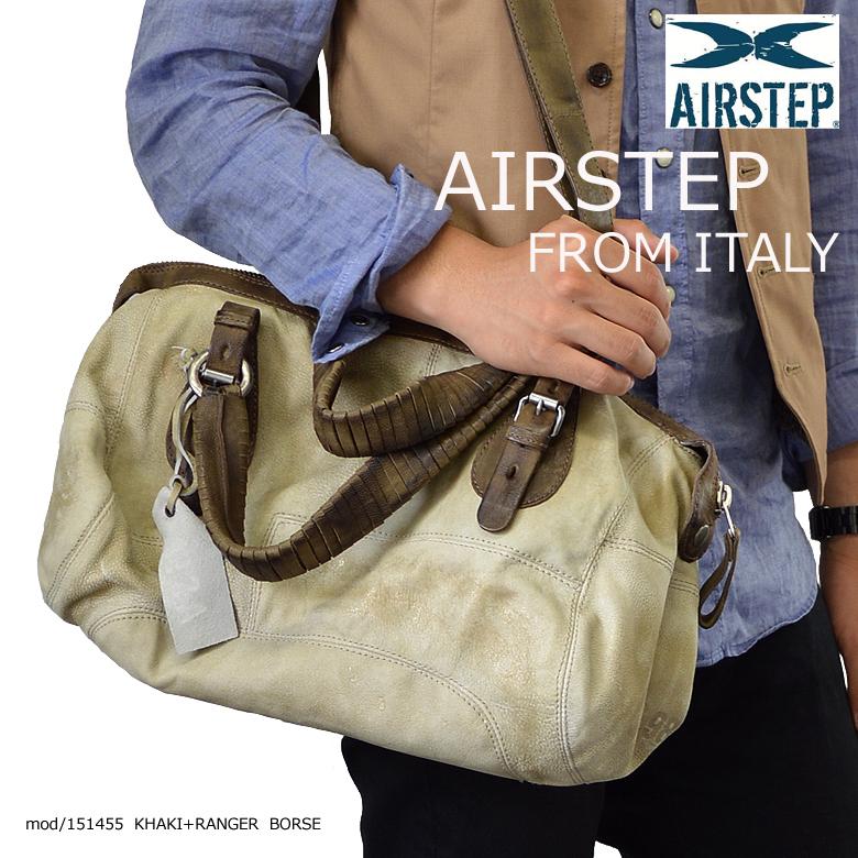 イタリア製 AIRSTEP ブランド 本革 レザーボストンバッグ レディース メンズ レザーショルダーバッグ 本革 レザーボストンバッグ 2Wayレザーバッグ インポートブランド レザーバッグ レザーバック 本革 鞄 かばん メンズ レディース 男女兼用 1514551