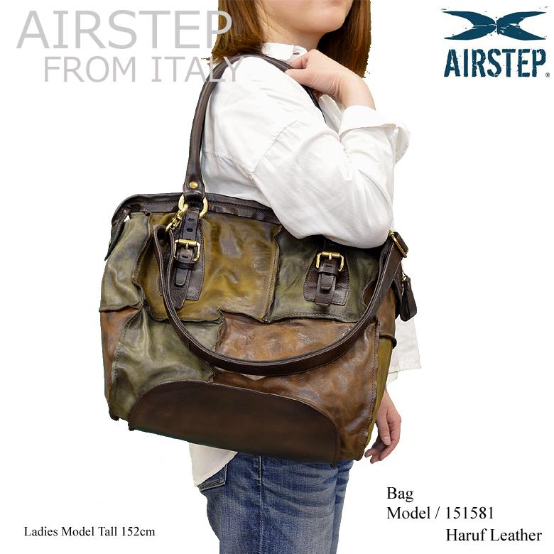 【AIRSTEP】イタリア製 ブランド レザーバッグ ショルダーバッグ 斜めがけ レディース 本革 a4 通勤 旅行 日帰り メッセンジャーバッグ ハンドバッグ レディース大人 カバン 鞄 レザー マルチカラー メンズ 151581 春レザー