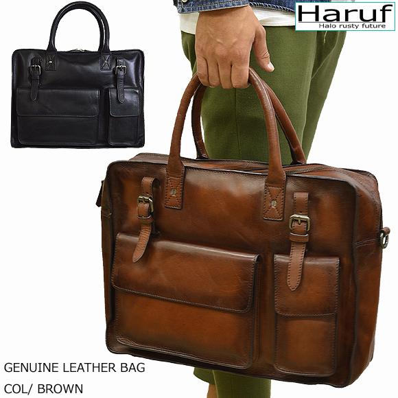 【Haruf】ショルダーバッグ レザーバッグ 斜めがけ メンズ 本革 メッセンジャーバッグ ビジネス バッグ ブリーフケース メンズ鞄 革 皮 仕事 旅行 B4 Stephen7178 春