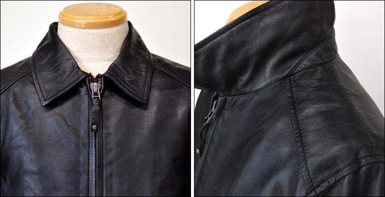 Haruf Leather Real Leather Single Riders Jacket Lamb Leather Riders