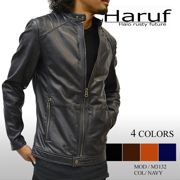 Haruf Leather Leather Jacket Ridersjacketmens Leather Jean Skin