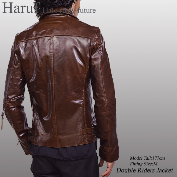 0121cc59489 Horse-skin horsehide leather double riders jacket leather jacket leather  jacket riders men usa23br