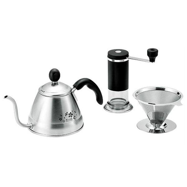 コーヒードリッパー コーヒー ドリッパー ギフト プレゼント ご褒美 コーヒードリップポット 1L ステンレスドリッパー コーヒーミルセット フィルター ポット 不要 送料無料 ミル フィルター不要 ブランド買うならブランドオフ