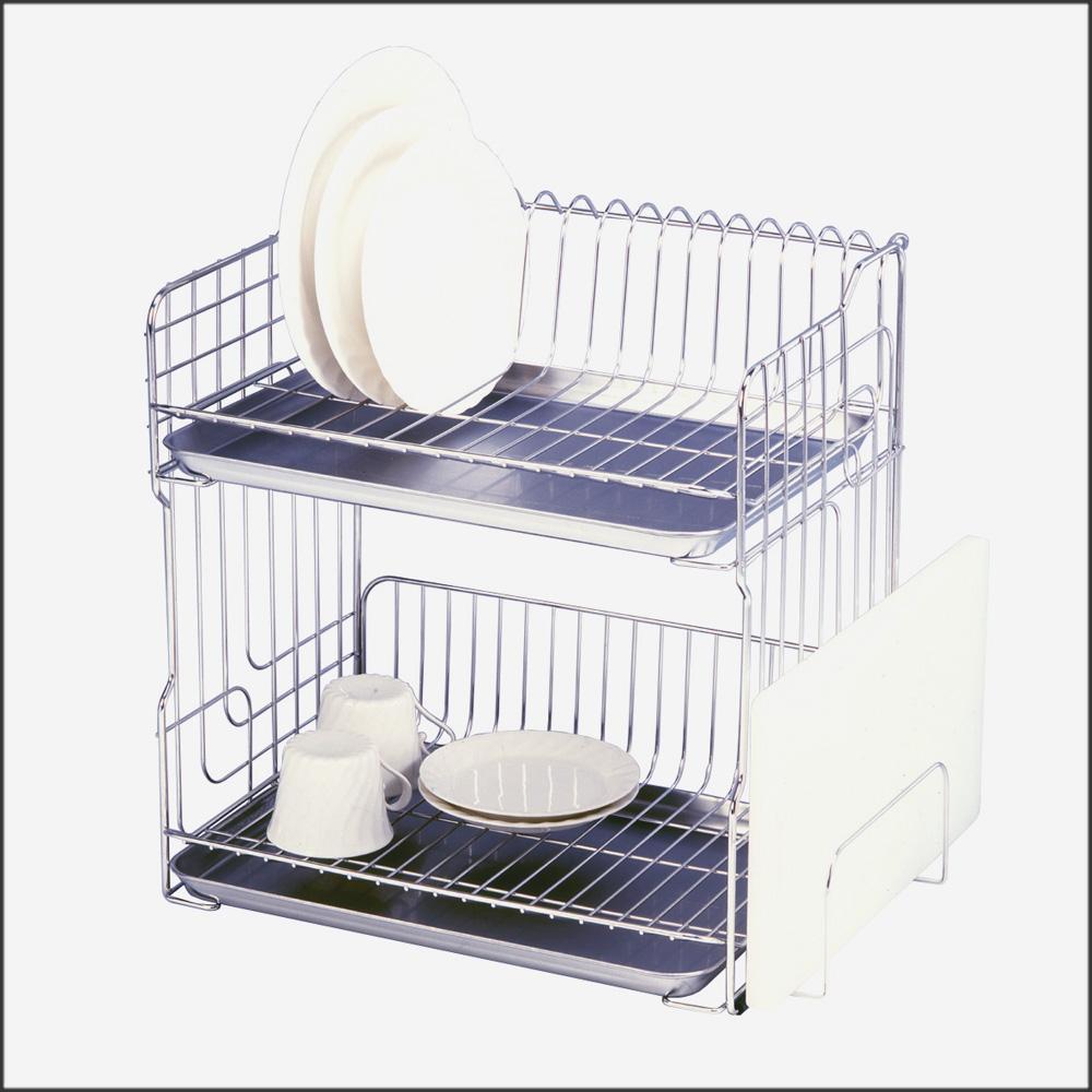 水切りラック 2段 ステンレズ スリム 水切りかご キッチン 収納 省スペース コンパクト 送料無料