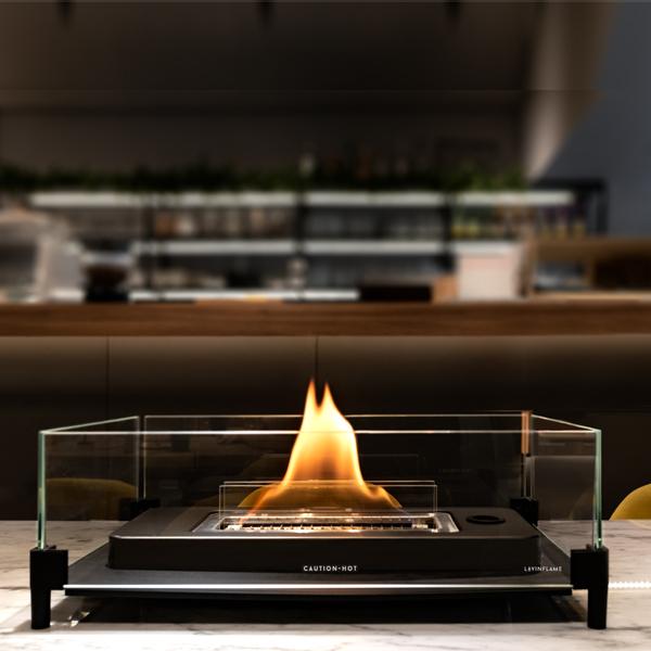 テーブルトップ暖炉 ウィンドガード付き + 専用燃料 1L