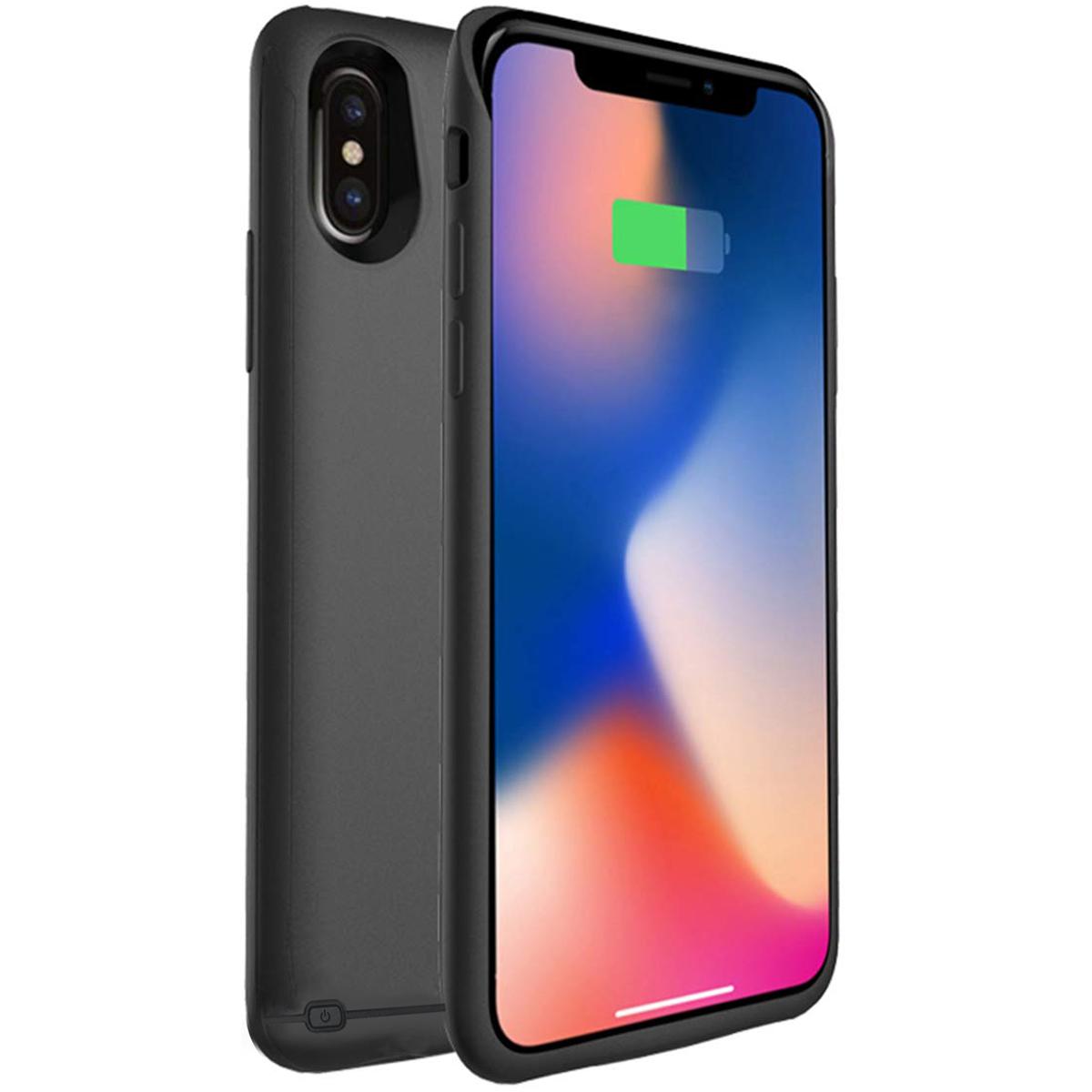 新品 iPhone XS Max  対応 バッテリーケース 6000mAh 大容量 バッテリー内蔵ケース 薄型 軽量 急速充電 ケース型バッテリー iPhone XS Max 対応 充電ケース6.5インチ