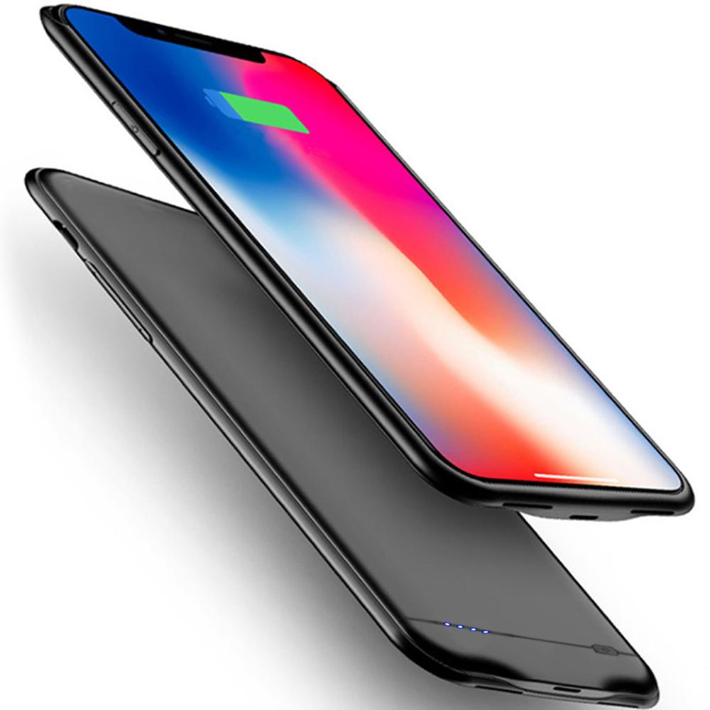 新品 iPhone XS Max 対応 5000mAh~8500mAh バッテリーケース 大容量 バッテリー内蔵ケース 薄型 軽量 急速充電 ケース型バッテリー iphone XS Max 対応 充電ケース 6.5インチ(ブラック)